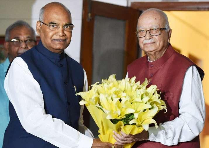 NDA's presidential nominee Ram Nath Kovind meets LK