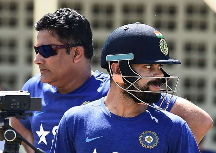 A file image of Virat Kohli and Anil Kumble.
