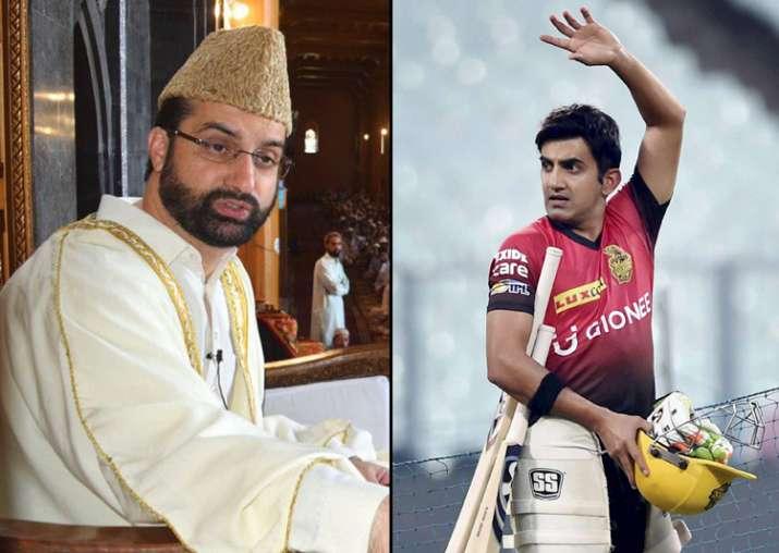 Gambhir takes on Mirwaiz as celebrations erupt in Kashmir