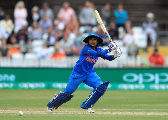 Mithali Raj of India bats during the England v India group