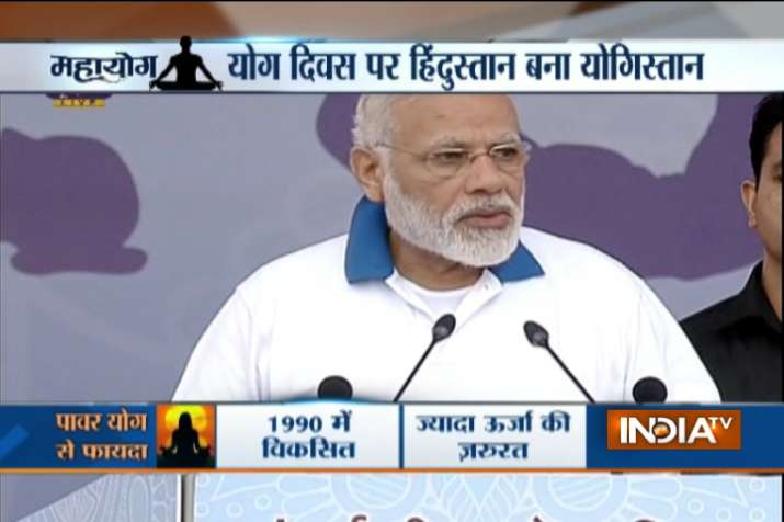 India Tv - Modi in Lucknow to lead third International Yoga Day celebrations