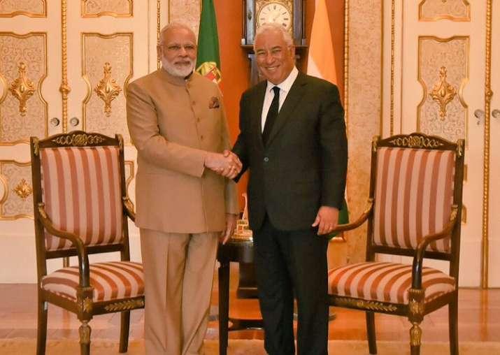 PM Modi meets Portuguese counterpart Antonio Costa in