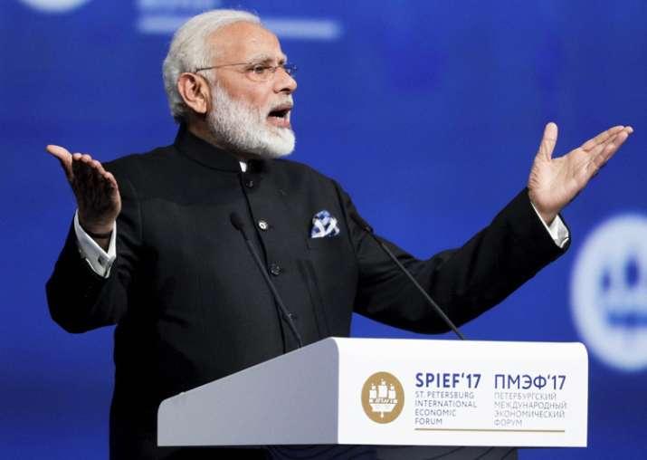 PM Modi speaks at St. Petersburg International Economic