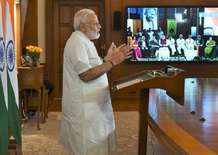 PM Modi addressing the 5th International Convention of SPIC