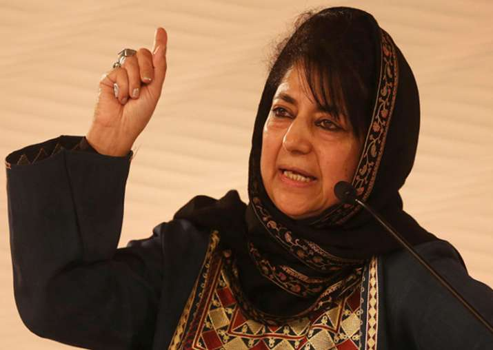 File pic of Jammu and Kashmir Chief Minister Mehbooba Mufti