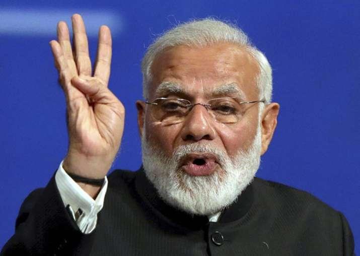 PM Narendra Modi speaks at an event in Russia