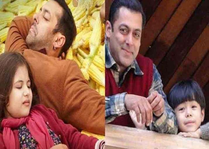 India Tv - Salman Khan with Harshali Malhotra and Matin Rey Tangu