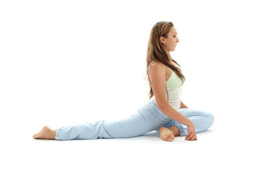 Yoga For Menstrual Cramps One Legged Pigeon Pose To Ease Period Pain Lifestyle News India Tv