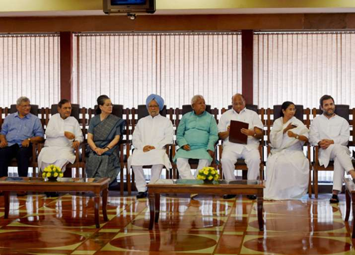 Non-NDA leaders at a luncheon hosted by Sonia Gandhi last