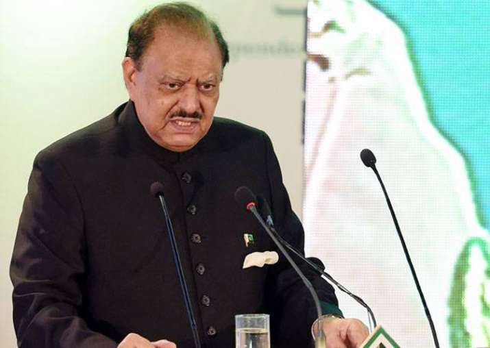 File pic of Pak President Mamnoon Hussain
