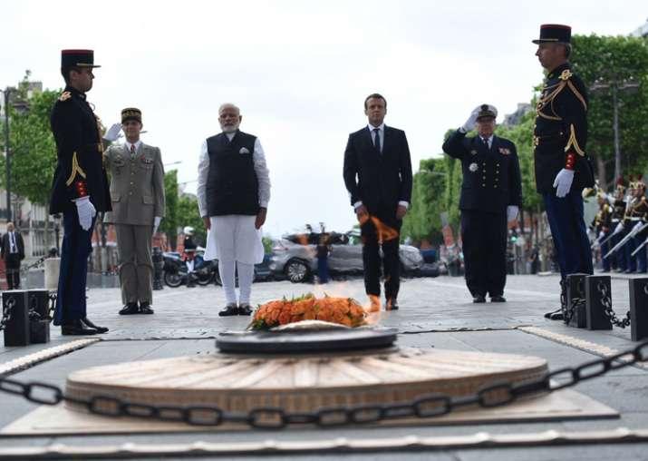 PM Modi pays homage at Paris war memorial