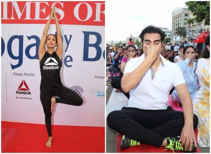 Malaika Arora and Arbaaz Khan International Yoga Day