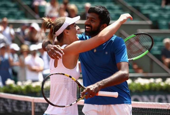 Rohan Bopanna and Gabriela Dabrowski after winning French