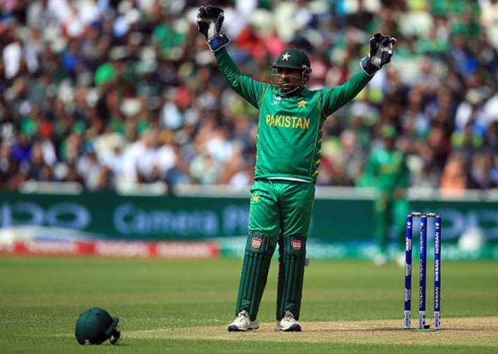 Pakistan captain Sarfraz Ahmed in action during the game