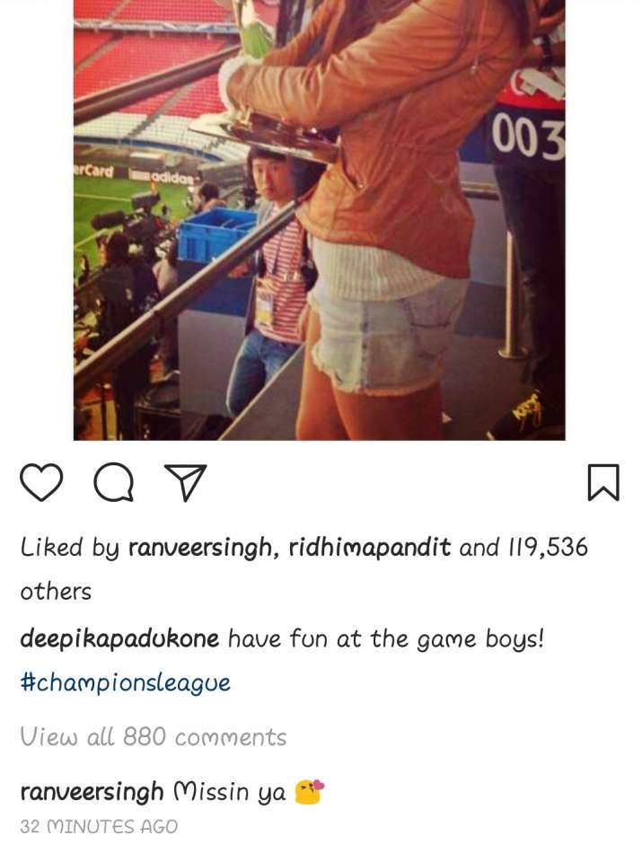 India Tv - Ranveer Singh commented on Deepika Padukone's picture
