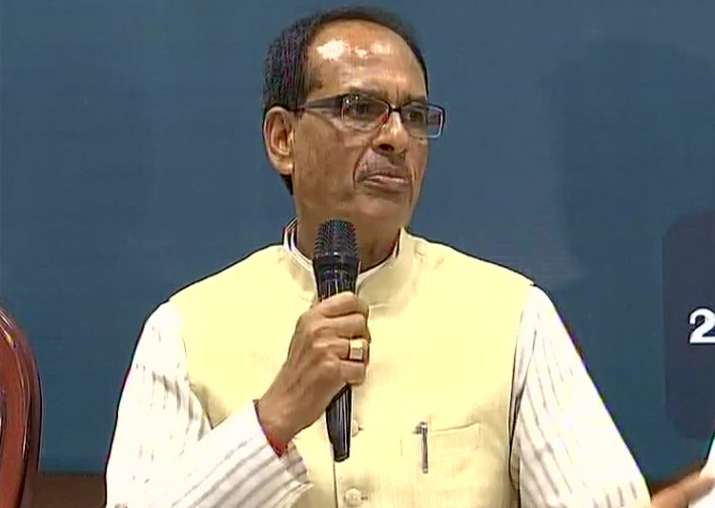 MP CM Shivraj Singh Chouhan speaks to media in Bhopal