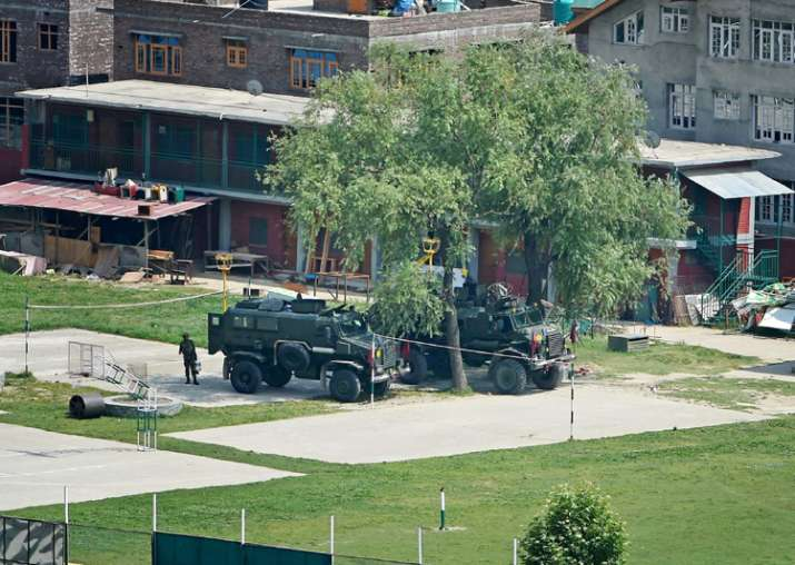 Srinagar: Bullet proof vehicles stationed in the premises