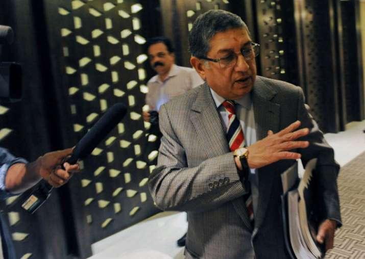 A file image of former BCCI president N Srinivasan.