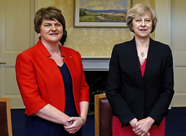 Arlene Foster, leader of emocratic Unionist Party, with
