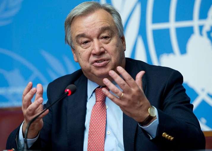 File pic of UN chief Antonio Guterres