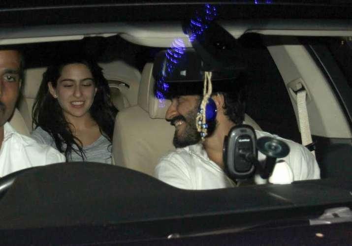 Sara Ali Khan and Harshvardhan Kapoor arrive together for a