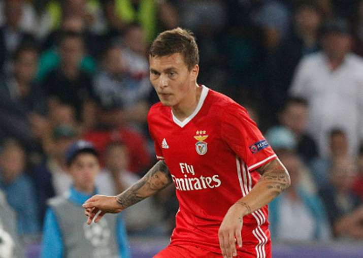 Victor Lindelof of Benfica during the UEFA Champions League