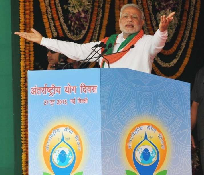 India Tv - PM Narendra Modi at Yoga event. File photo