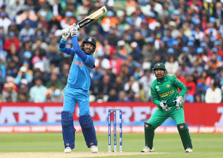 Yuvraj Singh in action against Pakistan in Birmingham.