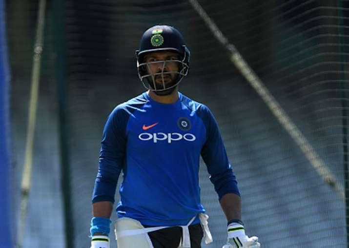 Yuvraj Singh during practice session