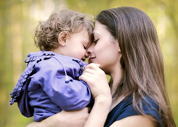 single mother children