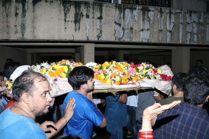 India Tv - Inder Kumar's last rites