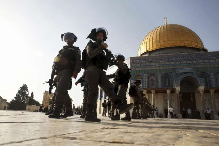 The site includes the Al-Aqsa mosque and the Dome of the