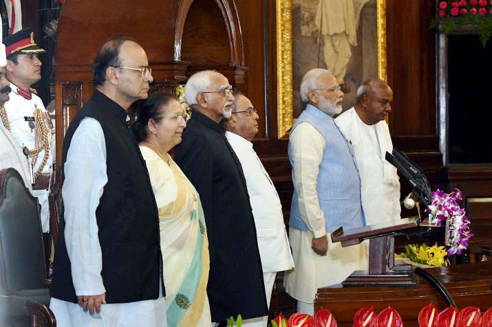 PM Narendra Modi and President Mukherjee at the launch of