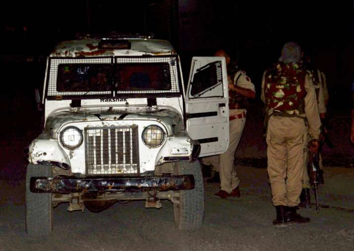 Security personnel after militants opened fire on Amarnath