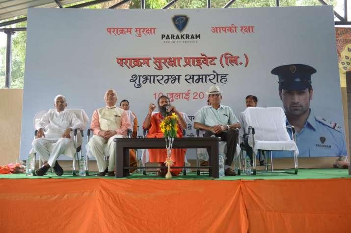 Ramdev launches private security firm Parakram Suraksha