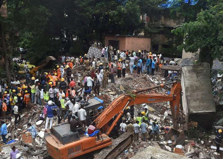 Four-storied residential building collapses in Mumbai's