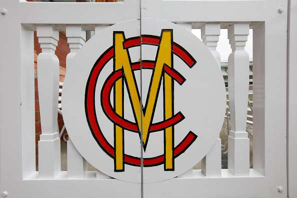 Close-up of the MCC gate at the Pavilion end of the ground
