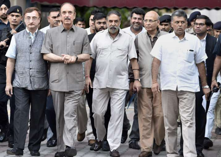 Congress leaders outside EC office