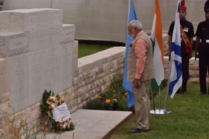 PM Modi visits Haifa, pays homage to Indian World War I