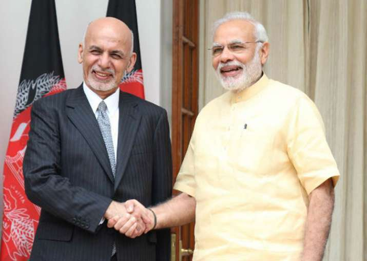 File pic - Prime Minister Narendra Modi and Afghan