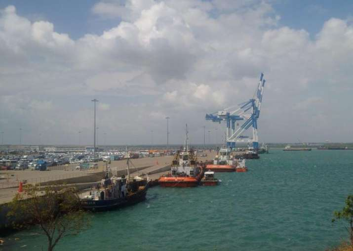 File pic - Hambantota Port