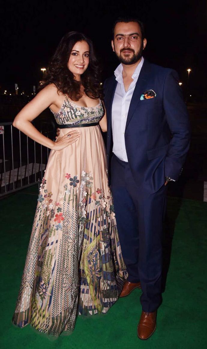 India Tv - diya mirza with husband sahil sangha