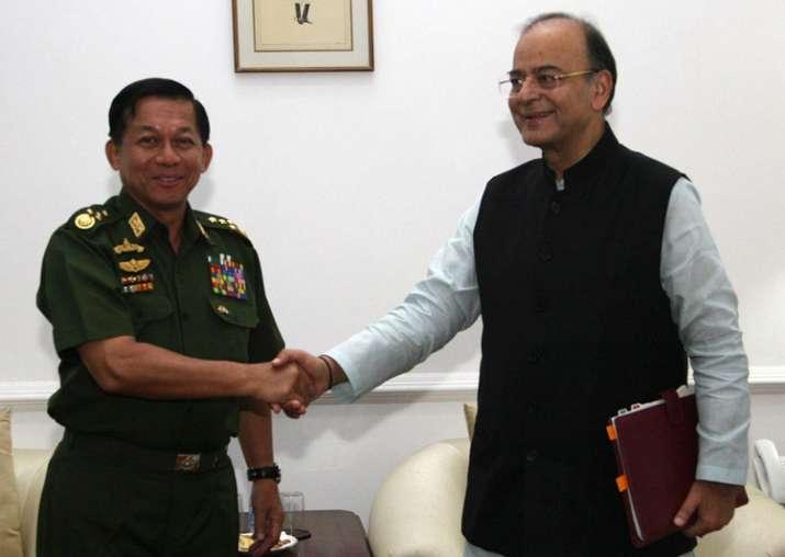 Myanmar military chief calls on Arun Jaitley