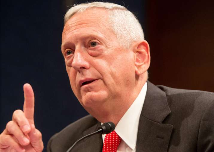 File pic of Defence Secretary James Mattis