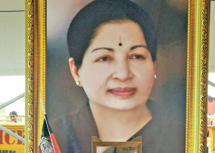 File pic of late Tamil Nadu Chief Minister Jayalalithaa