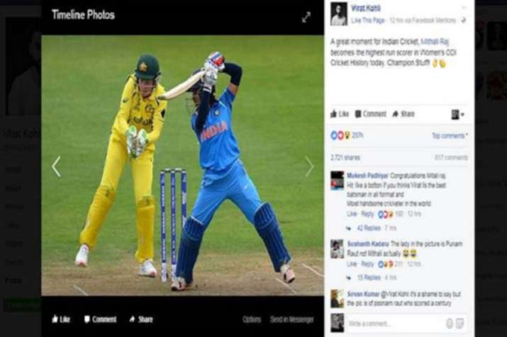 India Tv - Virat Kohli facebook post
