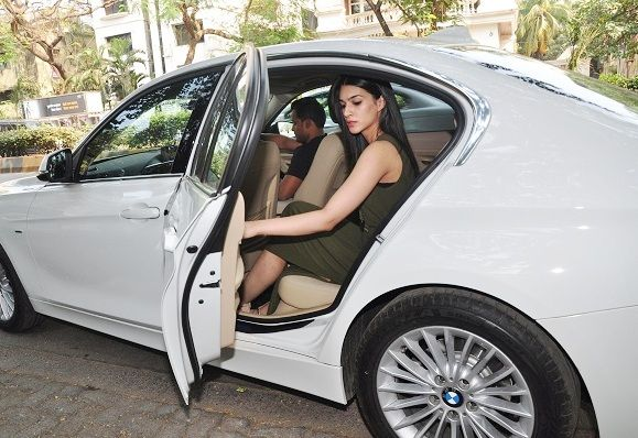 India Tv - Kriti Sanon in her BMW 5 series