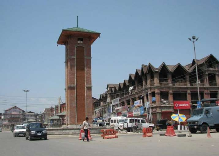 File pic - A view of Lal Chowk