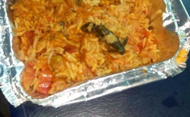 Passenger finds dead lizard in veg biryani served on train,