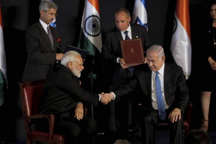 India, Israel ink 7 agreements on PM Narendra Modi's visit